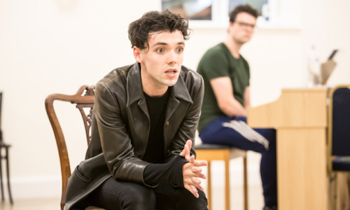 Keith Ramsay in rehearsals for Preludes at Southwark Playhouse