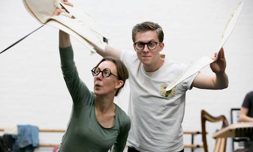 In rehearsals for 'Cinderella, A Fairytale' at The Tobacco Factory