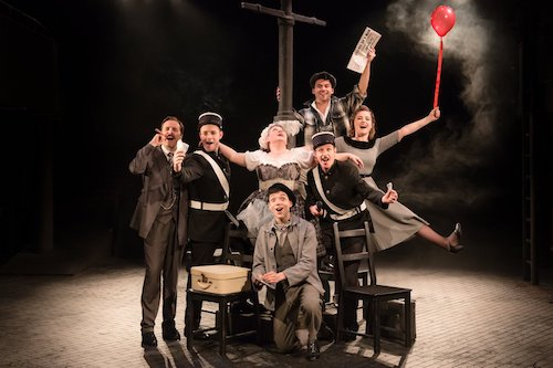 Keith Ramsay and the cast of Amour at Charing Cross Theatre